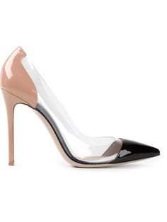 Gianvito Rossi 'plexi' Pumps - Biondini Paris - Farfetch.com Black and nude patent leather 'Plexi' pumps from Gianvito Rossi featuring a pointed toe, a high stiletto heel, a panelled color block design, a brand embossed insole and transparent paneling to the sides.