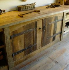 Reclaimed Wood Cabinets LiquidGoldSalvagedWood More