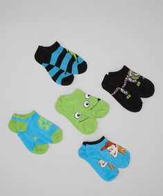 Another great find on #zulily! Blue & Green Toy Story Socks Set by Moret Kids #zulilyfinds