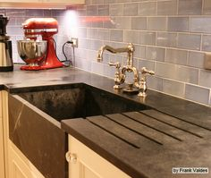 soapstone counter with farmhouse sink | ... sinks too including this custom sink made from slabs of soapstone this