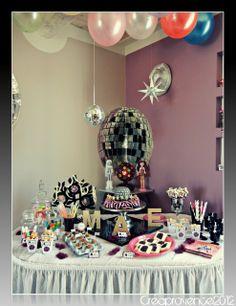 "Photo 1 of 13: pop star, monster high, disco ball, glitter, pink, rock star, glam chic / Birthday ""Pop star birthday party, a little Monster high""   Catch My Party"