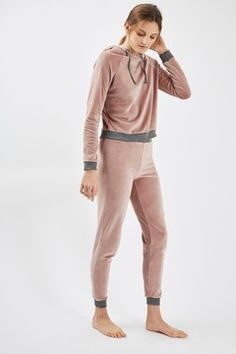 Nude Velour Loungewear Set