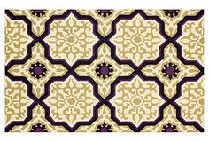 Janette Rug, Gold on OneKingsLane.com  could be nice in kitchen with blk cabinets, with subway tile back splash and ss appliances!!  rug in fam room off kitchen.