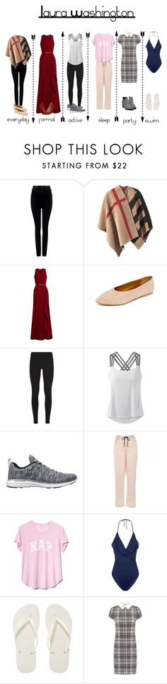 """""""Laura's Lookbook"""" by birdcagelarry ❤ liked on Polyvore featuring Citizens of Humanity, Burberry, Elie Saab, Coclico, Schutz, NIKE, prAna, Athletic Propulsion Labs, River Island and Gap"""