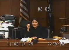 Judge Amber Wolf, July 29, 2016, in her Louisville, Ky., courtroom.