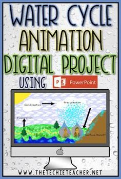 This would be so much fun and a great lesson in how to utilize different features on PowerPoint. Use PowerPoint to create water cycle animations with your students! Middle School Science, Elementary Science, Science Classroom, Teaching Science, Elementary Education, Upper Elementary, Teaching Resources, Teaching Ideas, Education Quotes For Teachers