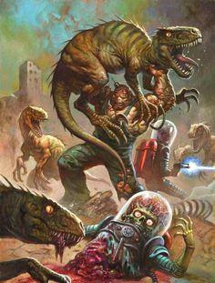 Vintage Geek Culture — Alex Horley's art for the new Mars Attacks! Comic Books Art, Comic Art, Book Art, Bd Comics, Horror Comics, Arte Horror, Horror Art, Storyboard, Mars Attacks