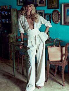 Mundo do cinema: Candice Swanepoel para a Revista Vogue Brasil de Janeiro de 2014