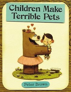 Plot: Children Make Terrible Pets reverses reality and tells the story of a brown bear who befriends a lost little boy and decides to bring him home as her pet