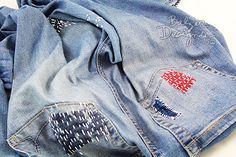 Balzer Designs: Sashiko/Japanese Boro Jeans for Fourth of July