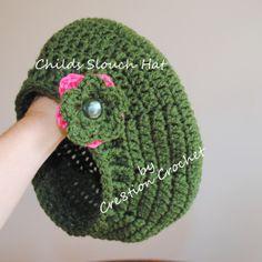 Free Crochet Child Slouch Hat Pattern  ✿Teresa Restegui http://www.pinterest.com/teretegui/✿