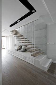 Dom w Falentach : styl , w kategorii Korytarz, przedpokój i schody zaprojektowany przez 3deko Exterior Design, Interior And Exterior, Concrete Stairs, House Stairs, French Cottage, Staircase Design, Diy Woodworking, Architecture, Future House