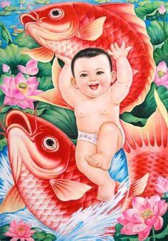 Nianhua (Chinese New Year painting) by Liu Taishan 刘泰山(年画) Chinese Propaganda Posters, Chinese Posters, Chinese New Year, Chinese Art, Vintage Artwork, Vintage Posters, China, Graphic Design Illustration, Illustration Art