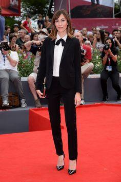 Gia Coppola en un look de Saint Laurent Paris en la premiere del filme 'Palo Alto', durante la 70a edición del Festival Internacional de Cine de Venecia el 1 de septiembre de 2013.