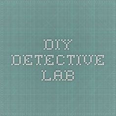 DIY Detective Lab--fingerprints