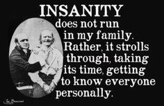 Insanity Does Not Run In My Family