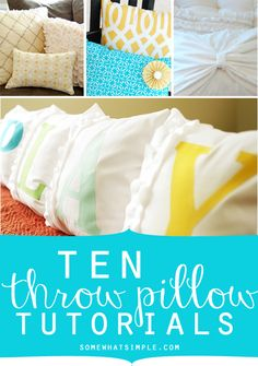 10 throw pillow tutorials that are so easy!!