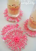 Rope and Neon Coasters
