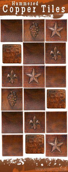 Hammered Copper Tiles