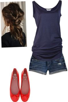"""""""Navy Blue Tank Top"""" by dreaming794 ❤ liked on Polyvore"""