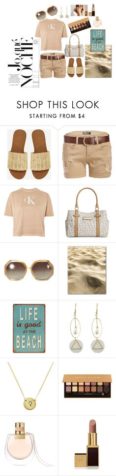 Vacation wear by jazzybell27 on Polyvore featuring Calvin Klein, Dollhouse, Ted Lapidus, Tom Ford, Anastasia Beverly Hills, Chloé and vacayoutfit