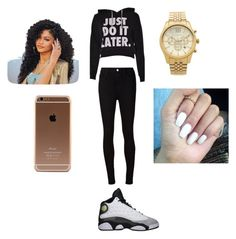 """Untitled #248"" by sike-a-da-nahhh ❤ liked on Polyvore featuring AG Adriano Goldschmied and Michael Kors"