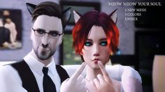 Sims 4 CC's - The Best: Cat Ears by Absconde