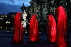 "Austrian artist Manfred Kielnhofer's light sculptures ""Time Keepers"" have landed in Berlin for the 2012 Festival of Lights"