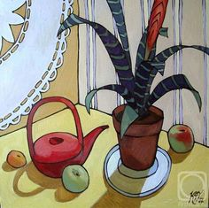 Zen, Russian Folk Art, 3 Arts, Artist Art, Art Pictures, Still Life, Contemporary Art, Watercolor, Drawings