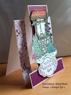 Tania Johnson : Stamp Haven, Bright Wishes, Stampin' Up!, 2017 - 2018 Annual Catalogue, #step up card #wishing well