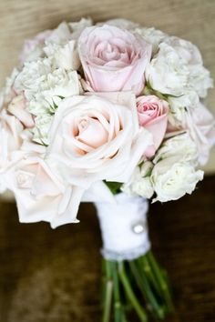 Light pink rose wedding bouquet