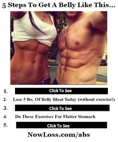5 steps to get a flat stomach, lose belly fat and build awesome abs