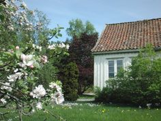 Old house outside of Kristiansand, Norway—grew up playing in yards like this.