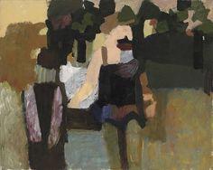 Howard Hodgkin (UK b. 1932)  In the Luxembourg Gardens (1957)  oil on canvas 83.2 x 104.1 cm
