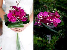 Brautstrauss Orchideen lila