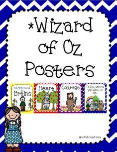Wizard of Oz Lifeskill Posters