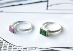 Baona colors - Anillo de plata de ley con piedra preciosa