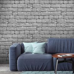 Add character to your home with this realistically Silver Brick Effect Wallpaper. Designed by Woodchip & Magnolia, this stylish wallcovering will bring a unique and eclectic touch to any space. Brick Effect Wallpaper, Feature Wallpaper, Red Wallpaper, Wallpaper Samples, Magnolia Wallpaper, Fantastic Wallpapers, Industrial Wallpaper, Grey Brick, Urban Loft