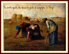 """Nel dipinto """"Le Spigolatrici"""", di Millet, Sicuramente queste donne mentre lavorano, stanno parlando dei loro problemi e reclami, gli stessi che Poi Giovanni Verga dinuncierá per scritto."""
