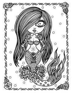 5 Pages of Burlesque Mermaids to Color Adult coloring Dance Vintage Pin Ups Mermaid Coloring Pages, Adult Coloring Book Pages, Printable Adult Coloring Pages, Coloring Books, Coloring Sheets, Pin Up Mermaid, Mermaid Art, Creation Art, Doodle Coloring