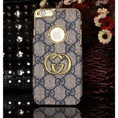 Coque Cuir iPhone 6 Plus Gucci,étui cuir iPhone6 plus-bleu
