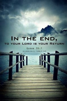 Qur'an Az-Zumar (The Troops) 39:7: If you disbelieve, then verily, Allah is not in need of you, He likes not disbelief for His slaves. And if you are grateful (by being believers), He is pleased therewith for you. No bearer of burdens shall bear the burden of another. ~~~Then to your Lord is your return, ~~~ so He will inform you what you used to do. Verily, He is the All-Knower of that which is in (men's) breasts.