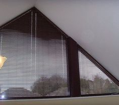 The Bali LightBlocker Angle Top Mini Blinds allow you to cover odd shaped windows without spending an arm and a leg. Shaped Windows, Arched Windows, Blinds For Windows, Curtains With Blinds, Window Blinds, Dormer Windows, Interior Design Degree, Interior Design Colleges, Window Coverings