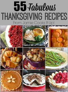 Fabulous Thanksgiving Recipes from Jamie Cooks It Up! From the cranberry sauce to the pecan pie, this post has you covered!