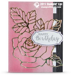 BLOG HOP: Gorgeous Rose Wonder Wow Card | Stampin Up Demonstrator - Tami White - Stamp With Tami Crafting and Card-Making Stampin Up blog