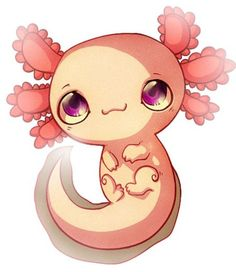 Cute cartoon Axolotl