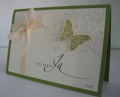 Ein Schwung Hochzeitseinladungen... .... in olivgrün... .... und passenden Menükarten sind mal wieder entstanden. ...