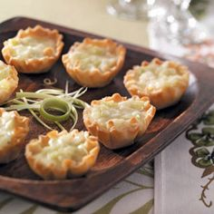 Day Twelve of Taste of Home's Thanksgiving Countdown: Brie-Leek Tartlets Recipe shared by Colleen MacDonald of Port Moody, British Columbia