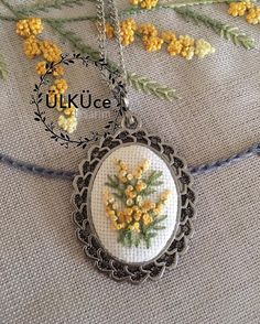 Items similar to Sailboat cross stitch necklace. Embroidery Floss Crafts, Flower Embroidery Designs, Silk Ribbon Embroidery, Embroidery Jewelry, Hand Embroidery Patterns, Embroidery Art, Cross Stitch Embroidery, Bag Sewing Pattern, Brazilian Embroidery Stitches