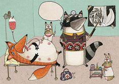 Stitched Creatures by Karin Emsbroek | ImaginativeBloom.com